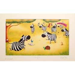 Zoe the Zebra - Limited Edition Print